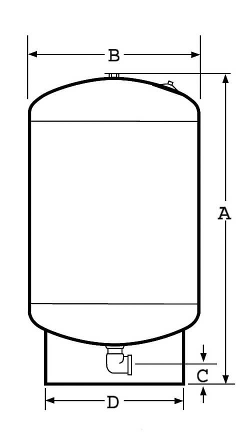 Réservoir challenger- vertical 100L