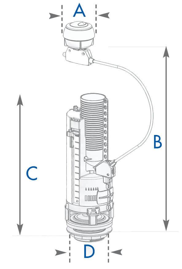 Chasse d 39 eau co c ble bouton alp 39 osmose 002475 - Reglage debit chasse d eau ...