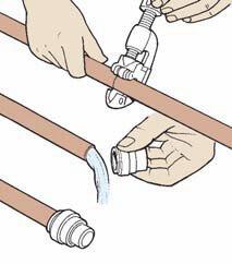 Montage bouchon tube